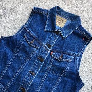 Levi's denim vest small blue vintage waistcoat